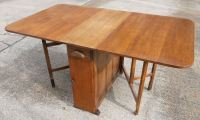 Light Oak Dropleaf Dining Table to Seat Six - SOLD